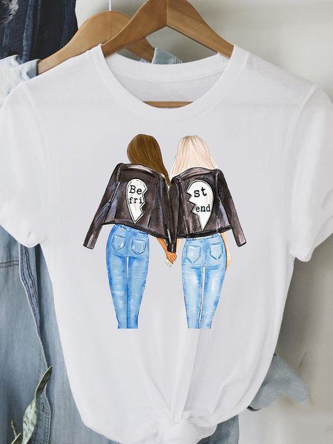 T-shirt biały The best friends Love&Live