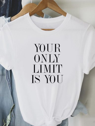 T-shirt biały ONLY LIMIT IS YOU Love&Live