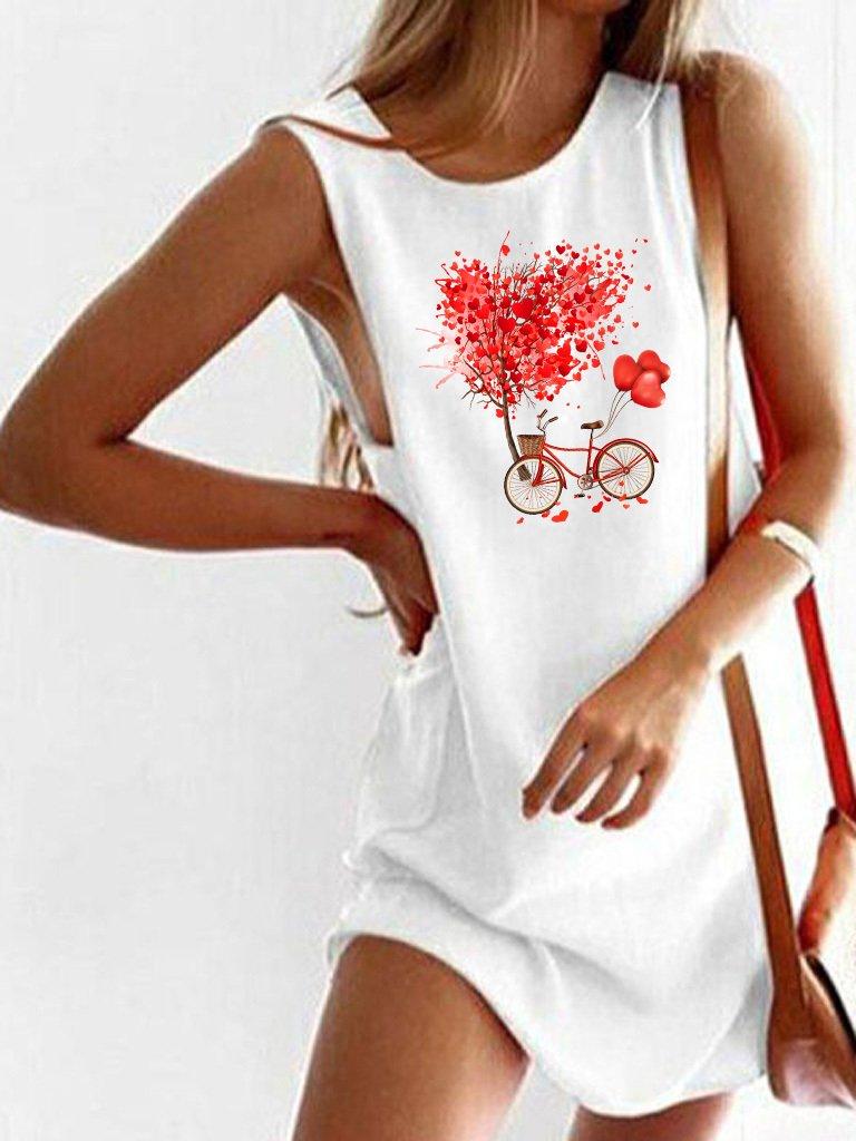 Sukienka koszulkowa biała Drzewo Miłości Love&Live