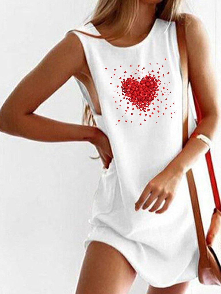 Sukienka koszulkowa biała Części Miłości Love&Live
