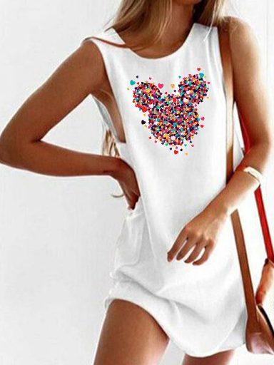 Sukienka koszulkowa biała Części Minnie Love&Live