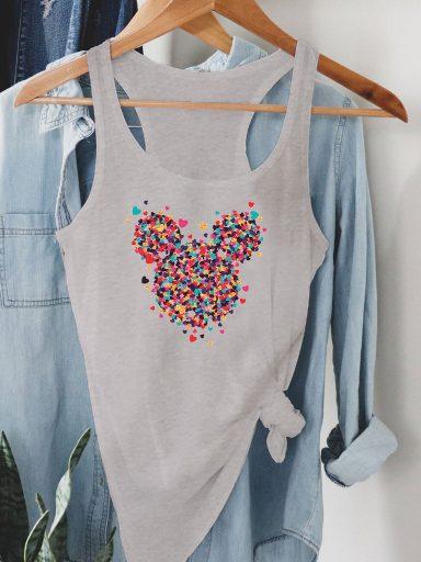 Szara koszulka na ramiączkach Części miłości MINNIE Love&Live
