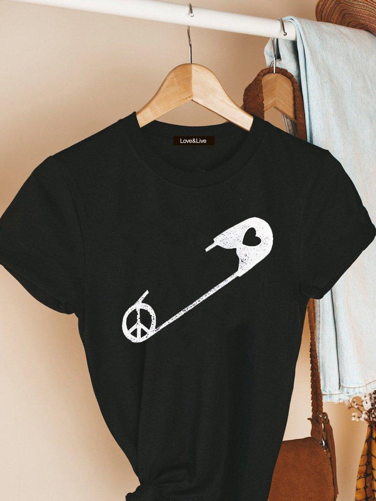 T-shirt czarny PRZYCZEPIĆ SIĘ Love&Live