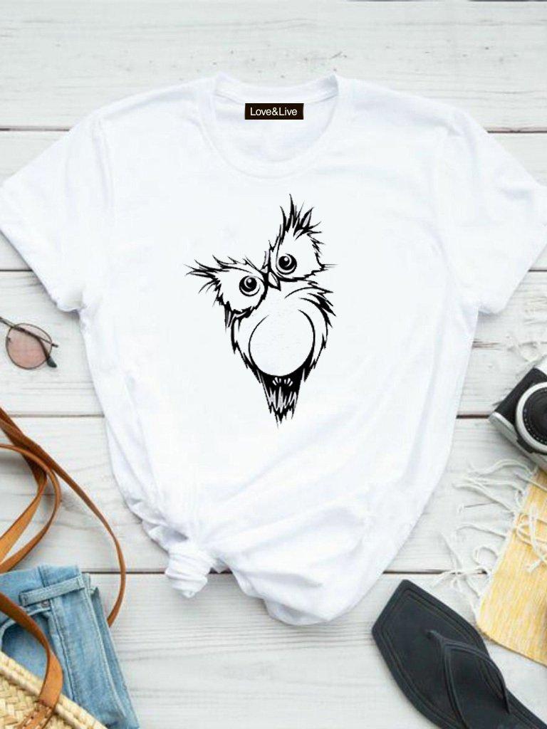 T-shirt biały SOWA Love&Live