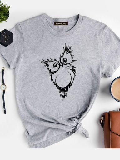 T-shirt szary SOWA Love&Live