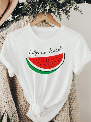 T-shirt biały Słodkie życie ZUZU