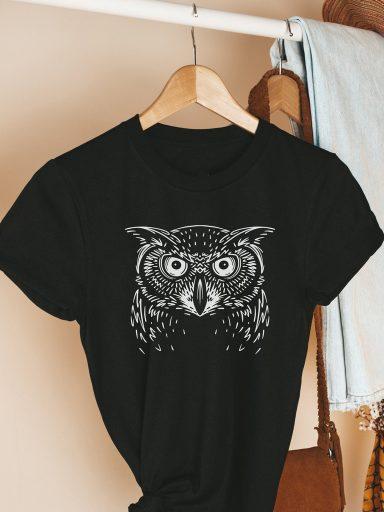 T-shirt czarny OWL Love&Live