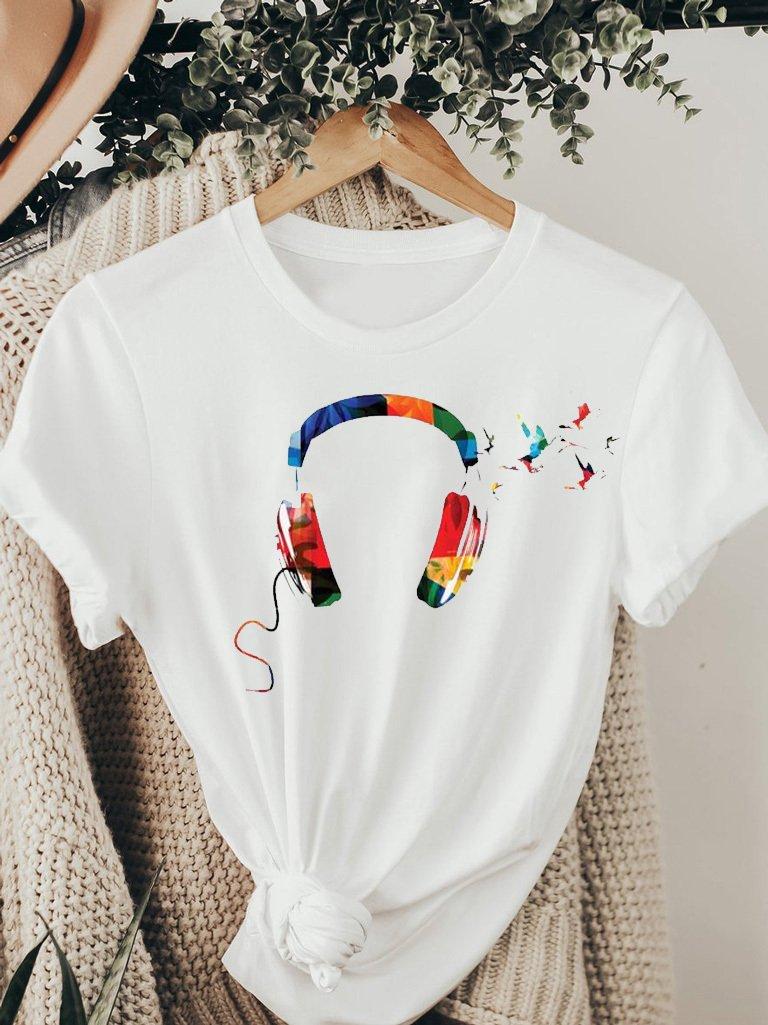 T-shirt biały KOLOR MOJEJ MUZYKI ZUZU