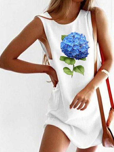 Sukienka koszulkowa biała HORTENSJA Love&Live