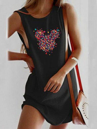 Sukienka koszulkowa czarna Części Minnie Love&Live