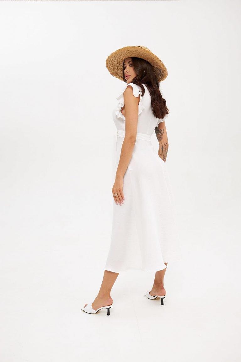 Sukienka midi z głębokim dekoltem Katarina Ivanenko