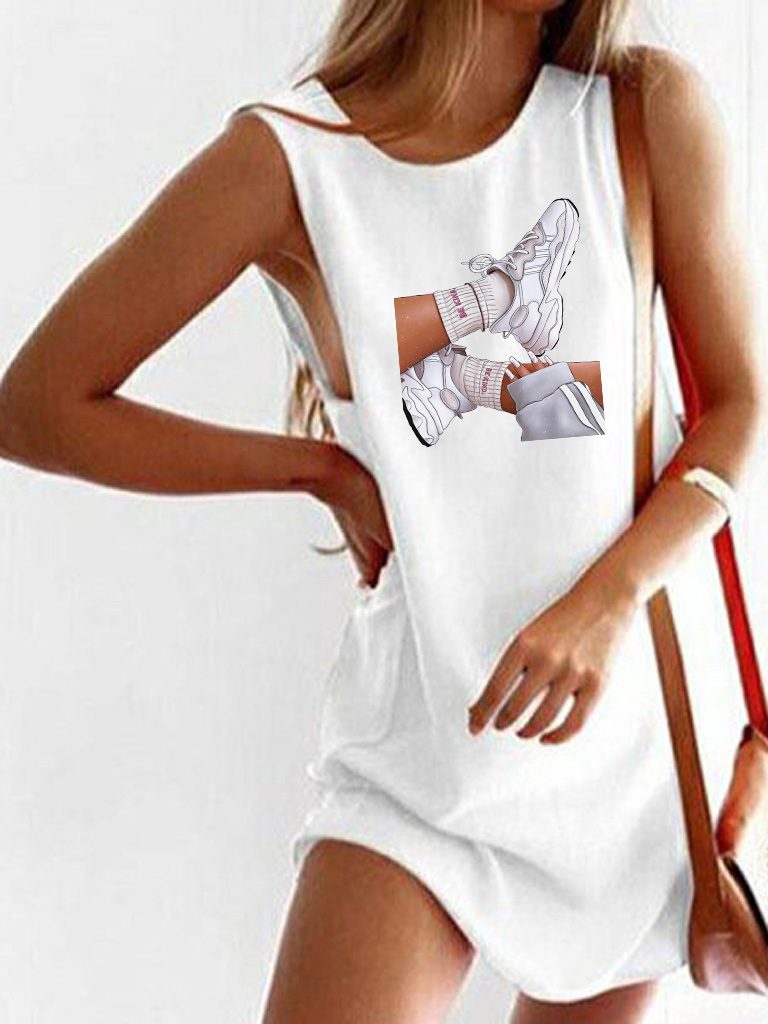 Sukienka koszulkowa biała BE KIND Love&Live