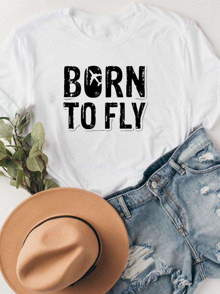 T-shirt biały BORN TO FLY Katarina Ivanenko