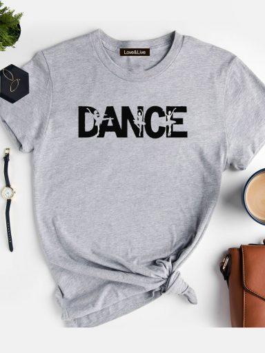 T-shirt szary DANCE Love&Live