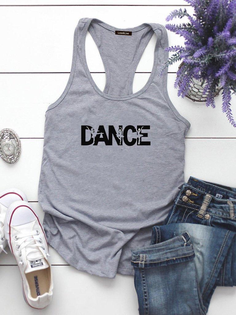 Szara koszulka na ramiączkach DANCE Love&Live