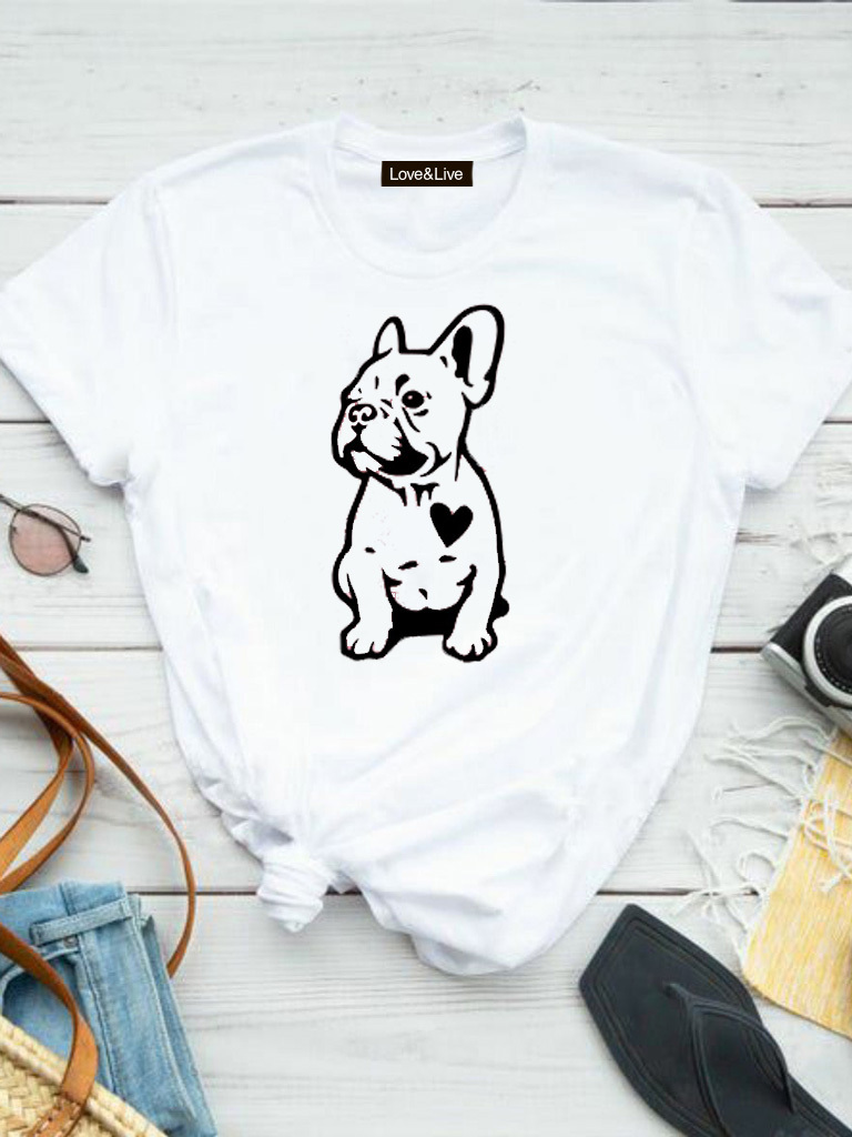 T-shirt biały DOG'S HEART Love&Live