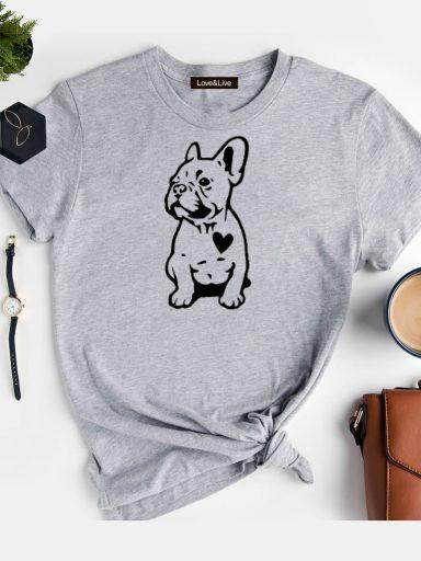 T-shirt szary DOG'S HEARTE Love&Live