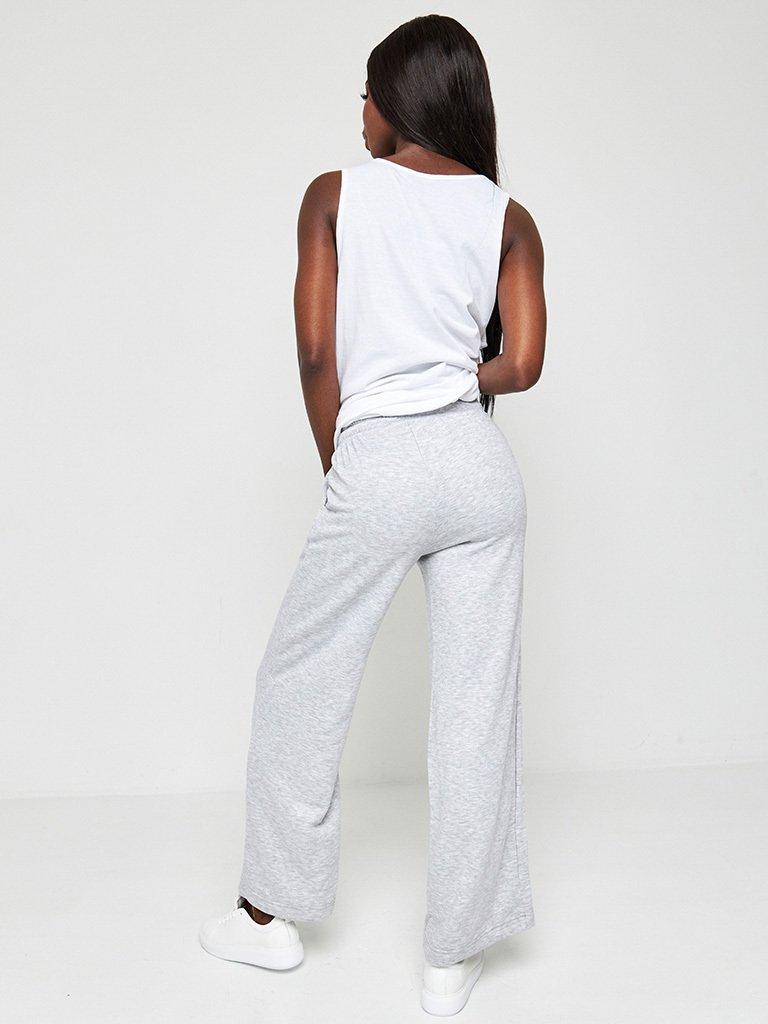 Sportowe spodnie oversize skrócone szare Katarina Ivanenko