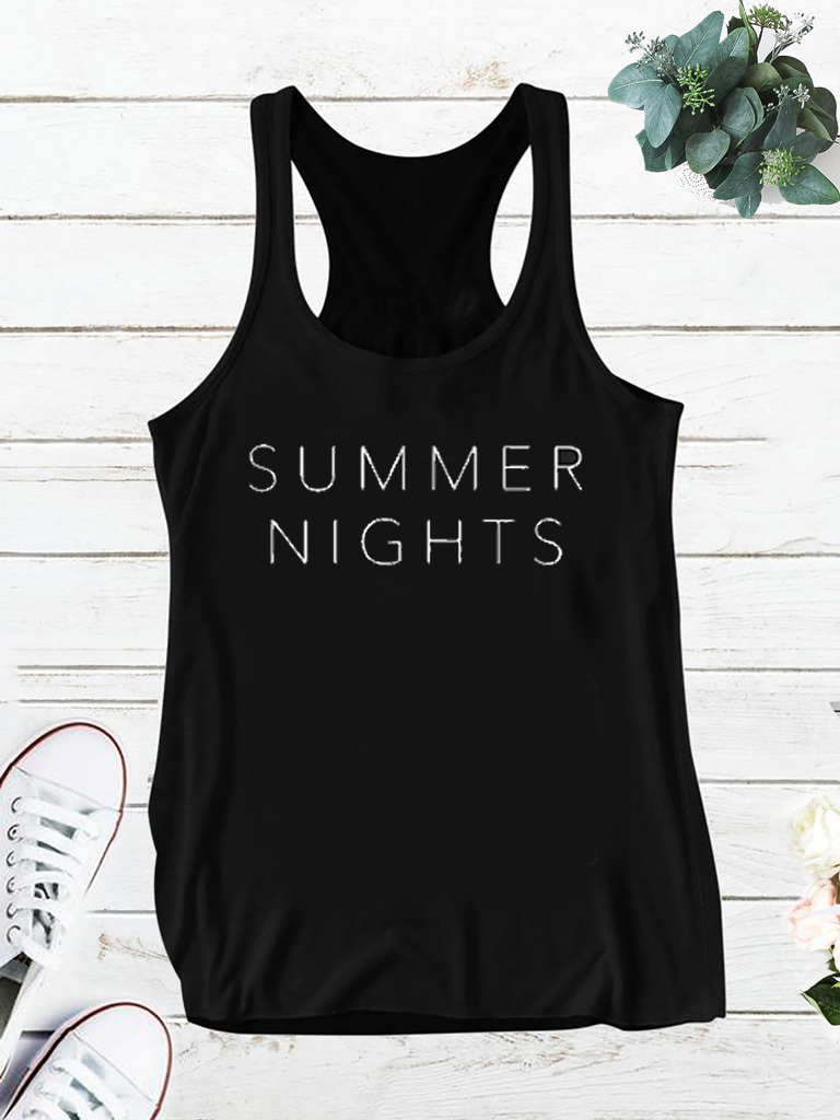 Czarna koszulka SUMMER NIGHTS Love&Live