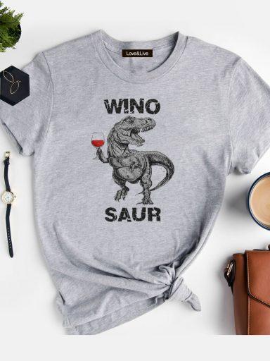 T-shirt szary WINOSAUR REX Love&Live