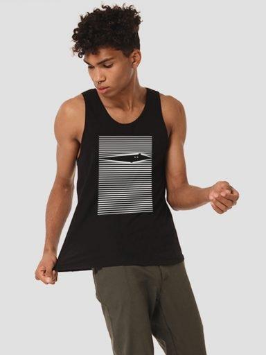 Koszulka męska bez rękawów czarna LOOK Love&Live