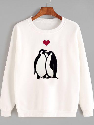 Bluza w kolorze białym MIŁOŚĆ DOROSŁYCH Love&Live