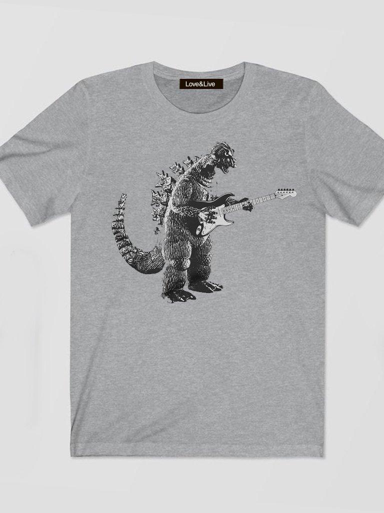 T-shirt męski szary GITARAZAUR Love&Live