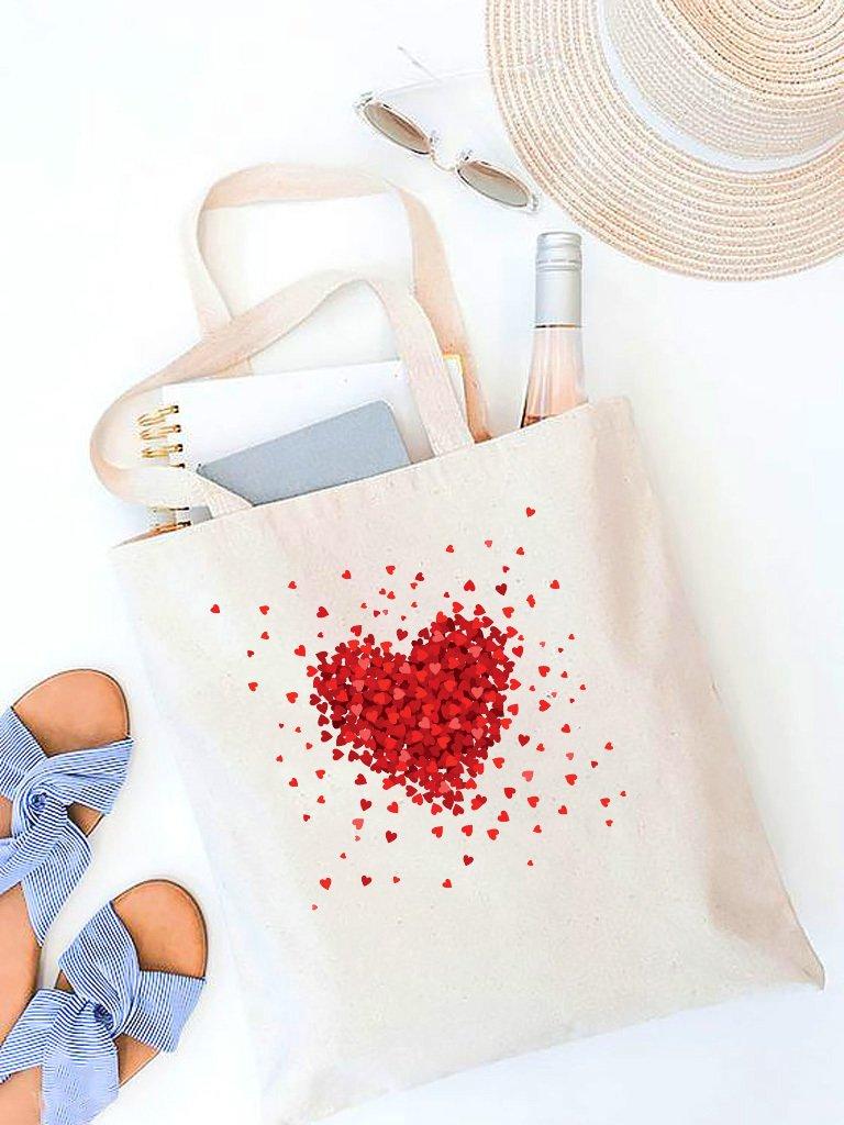 Torba ekologiczna na zakupy beżowa Części miłości Love&Live