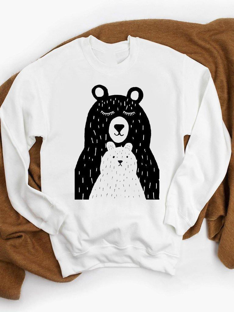 Bluza w kolorze białym Niedźwiedzie ZUZU