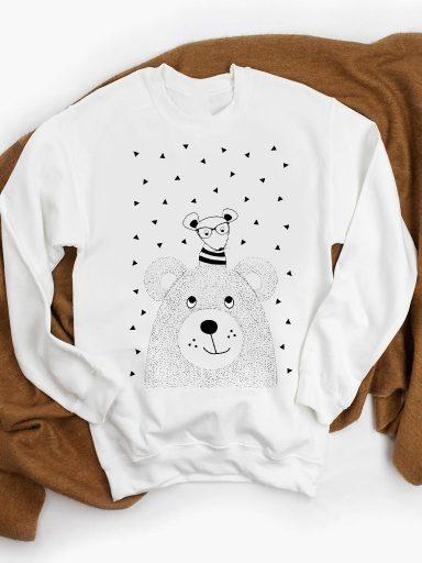 Bluza w kolorze białym Mysza i Niedźwiedź ZUZU