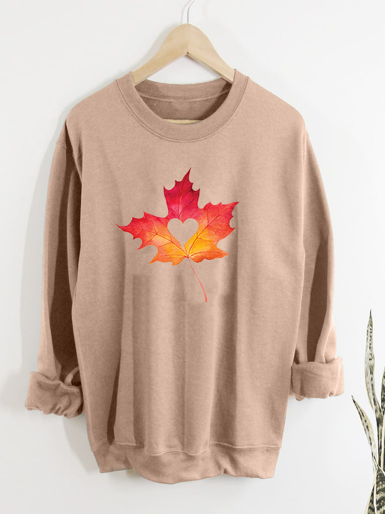 Bluza w kolorze beżowym Jesienny liść Love&Live