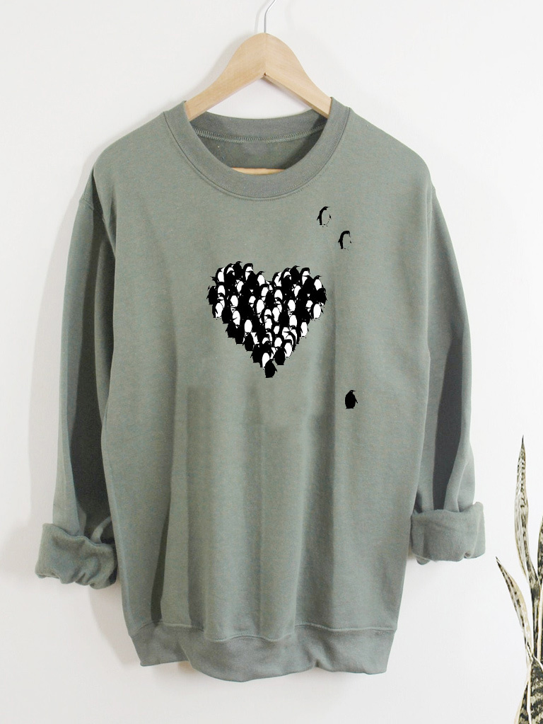 Bluza w kolorze oliwkowym PINGWINY MIŁOŚCI Love&Live