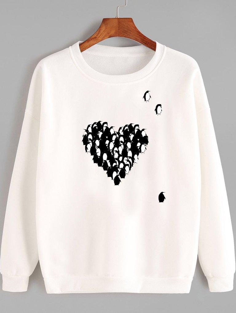 Bluza w kolorze białym PINGWINY MIŁOŚCI Love&Live