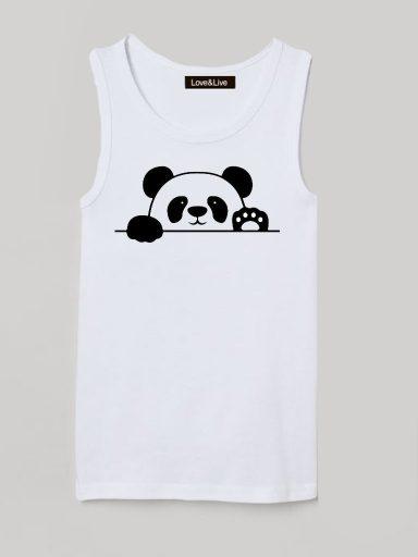 Koszulka na ramiączkach dla dzieci biała Witaj Pando Love&Live