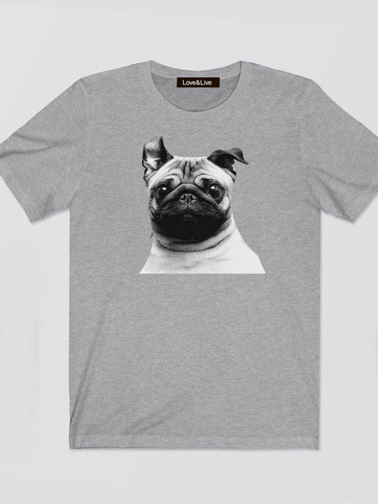 T-shirt męski szary Słucham Cię Love&Live