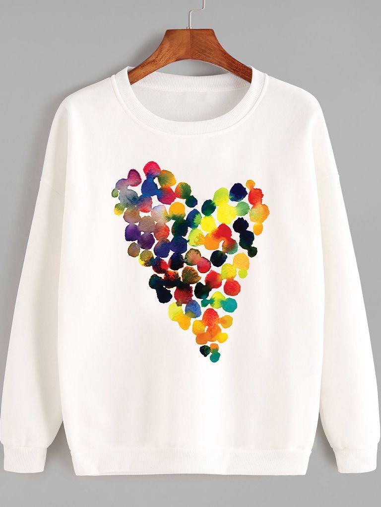 Bluza w kolorze białym JASNE SERCE Love&Live
