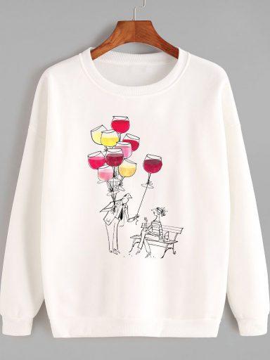 Bluza w kolorze białym Częstuj się Love&Live