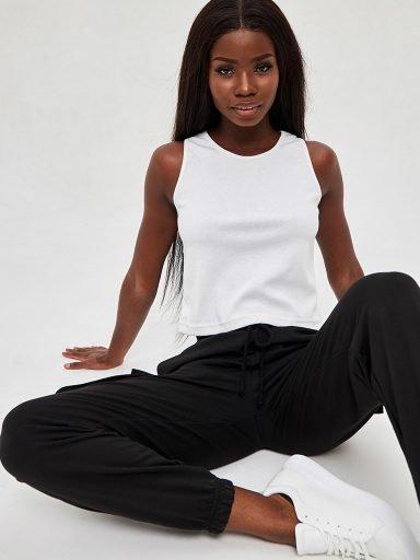Biała koszulka w prążki KATARINA IVANENKO