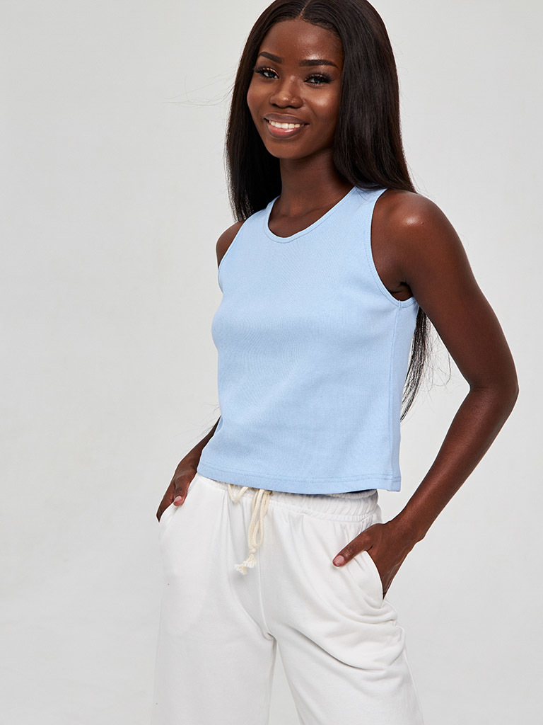 Niebieska koszulka w prążki KATARINA IVANENKO