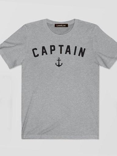 T-shirt męski szary CAPTAIN Love&Live