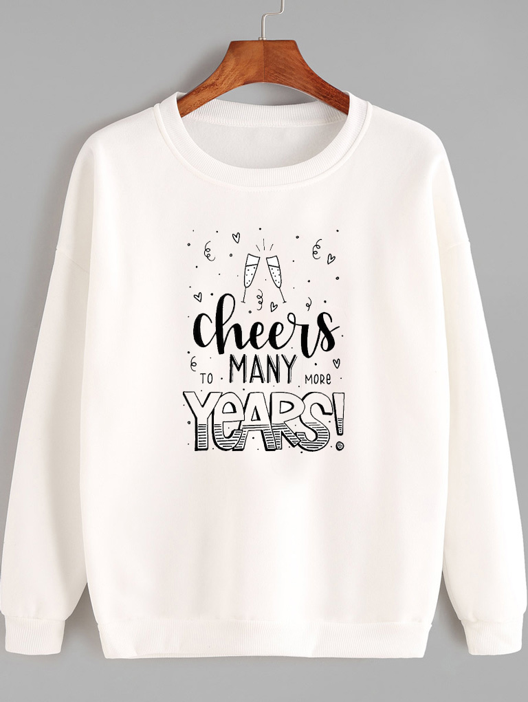 Bluza w kolorze białym CHEERS MANY YEARS Love&Live