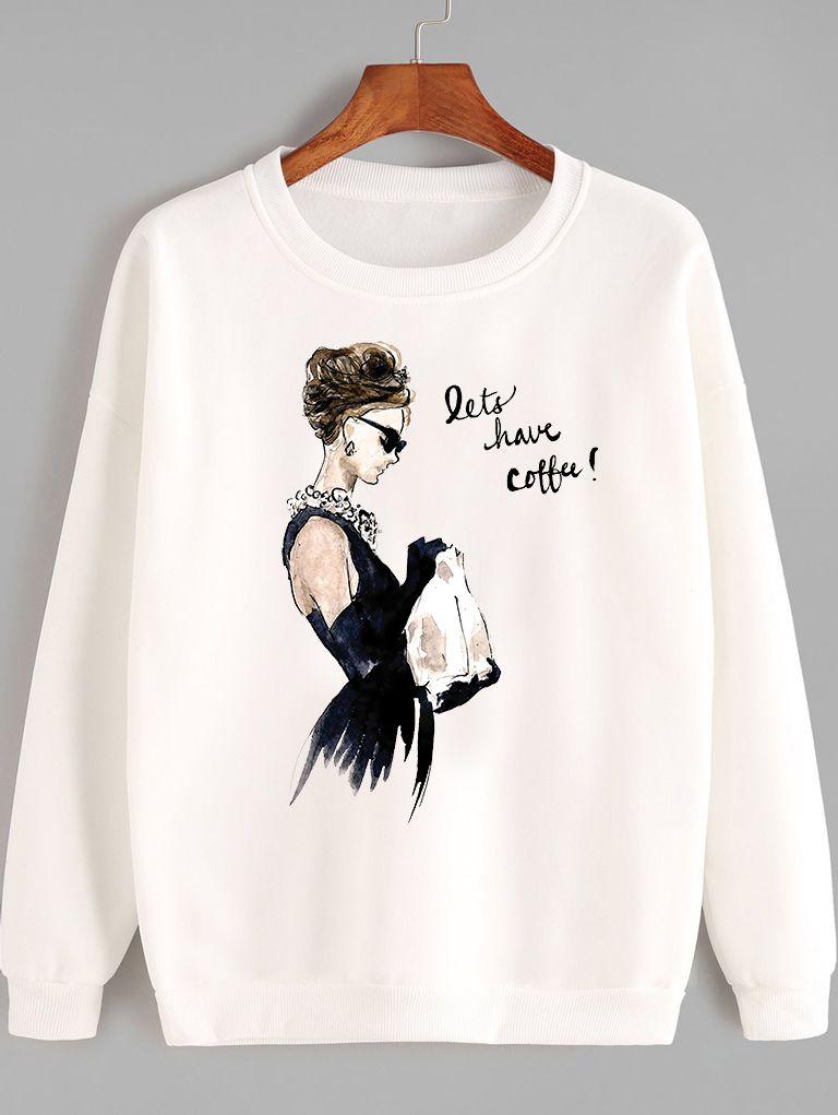 Bluza w kolorze białym Lets have coffee Love&Live