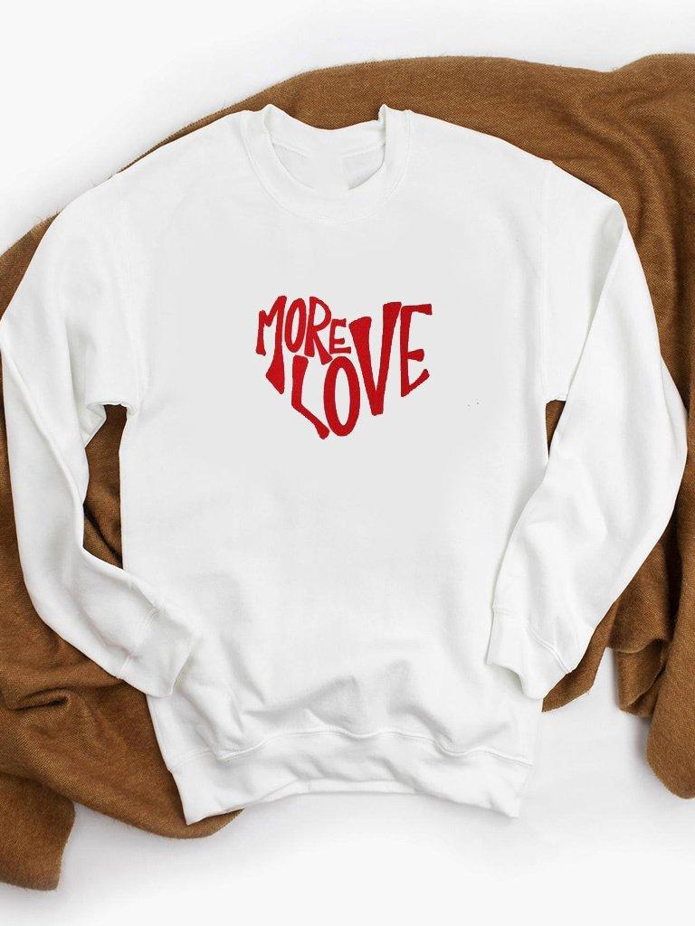 Bluza w kolorze białym MORE LOVE ZUZU