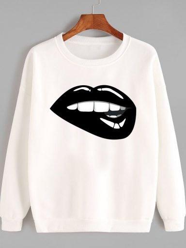 Bluza w kolorze białym Zjem Cię BLACK Love&Live