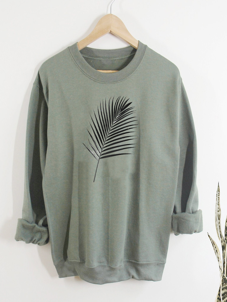 Bluza w kolorze oliwkowym PALM Love&Live