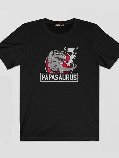 T-shirt męski czarny PAPASAURUS Love&Live