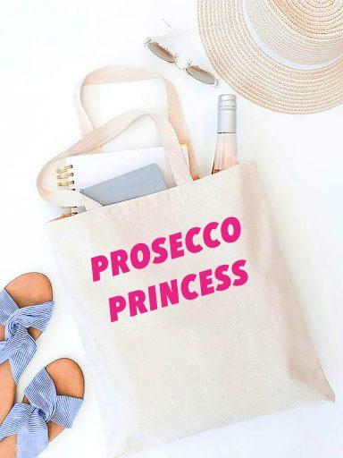 Torba ekologiczna na zakupy beżowa PROSECCO PRINCESS Love&Live