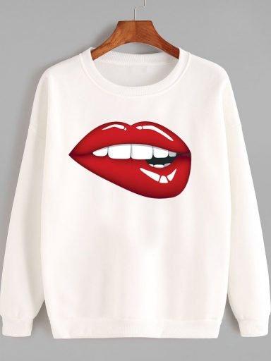 Bluza w kolorze białym Zjem Cię Love&Live
