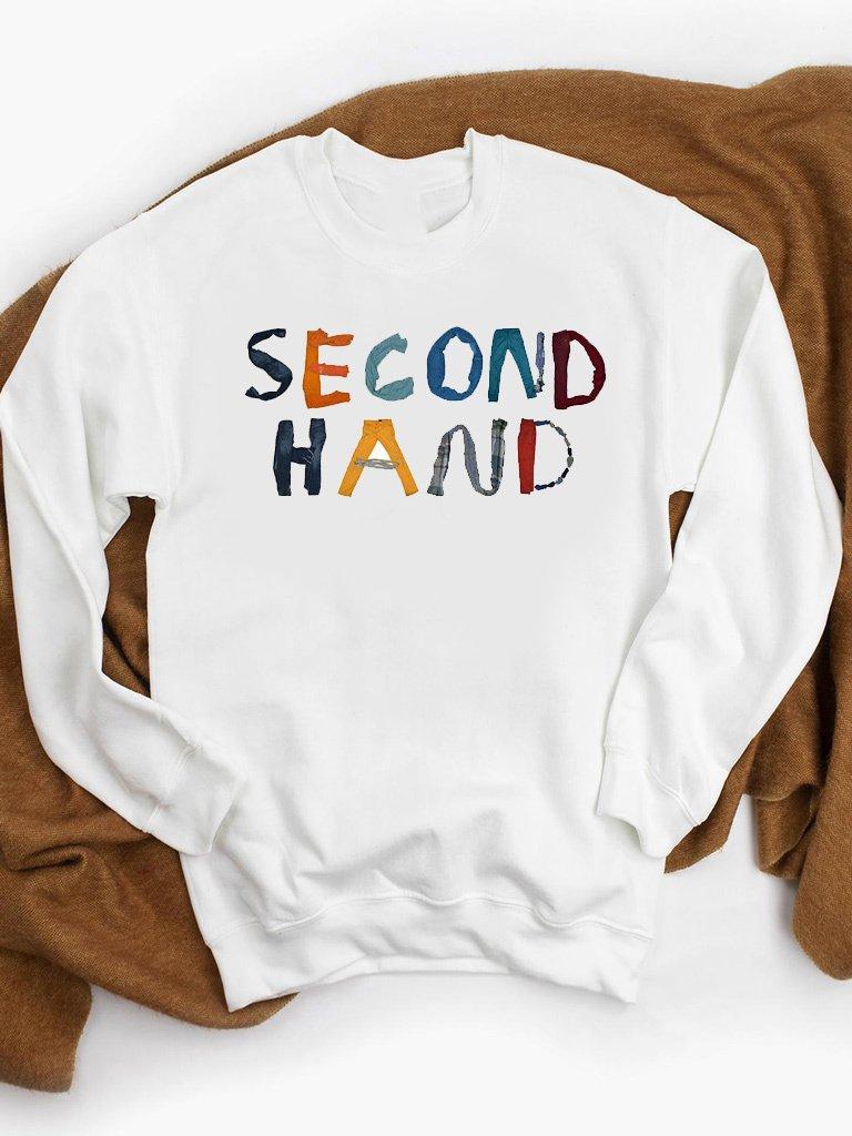 Bluza w kolorze białym SECOND HAND ZUZU