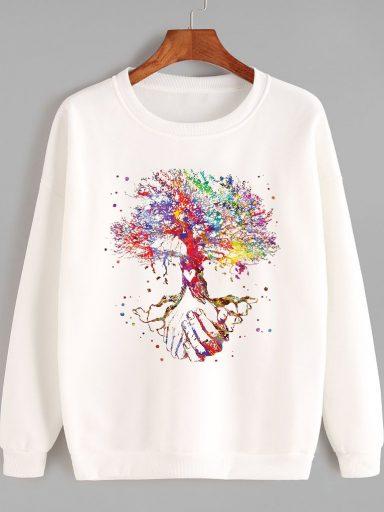 Bluza w kolorze białym Drzewo życia Love&Live